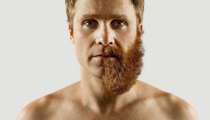 Mężczyzna z brodą kontra mężczyzna bez brody